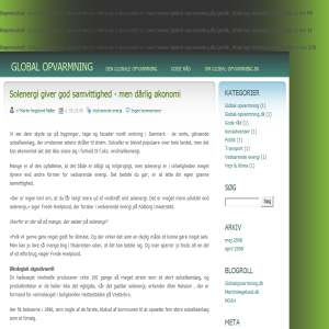Global opvarmning - Blog om den globale opvarmning