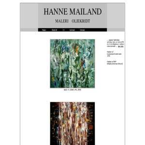 Hanne Mailand. Maleri - Oliekridt