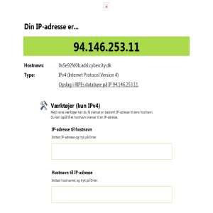 IP-adressen.dk - se hvad din IP-adresse er - find ud af hvad en IP-adresse er