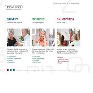 Job Vision - din foretrukne HR-samarbejdspartner