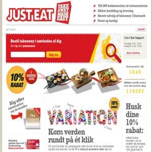 Just-eat.dk - Bestil pizza & burger online - Udbringning