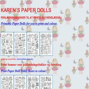 Karens Påklædningsdukker