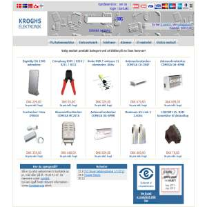 Kroghs Elektronik - Antenneudstyr, Alarmer, Netværk