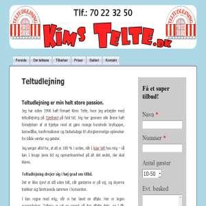 Teltudlejning Sjælland - Kimstelte.dk