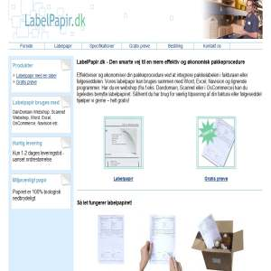 Labelpapir.dk - den smarte pakkeprocedure