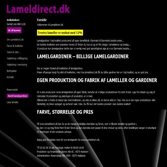 Lameldirect - Online lamelgardiner til billige priser