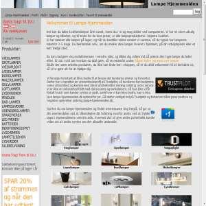 Lampe Hjemmesiden