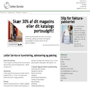 Letter Service - Kuvertering Adressering Pakning