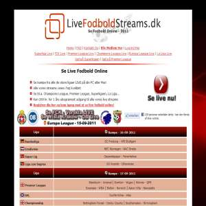 Live Fodbold Online - Streaming