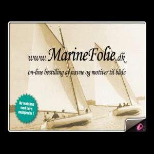 MarineFolie - Selvklæbende bådnavne