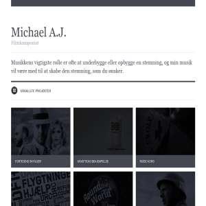 Michael A.J. - Musik til film