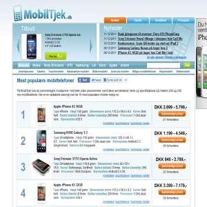 Sammenligning af mobilpriser
