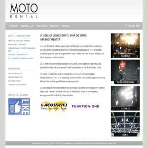 Lydudlejning hos Moto Rental