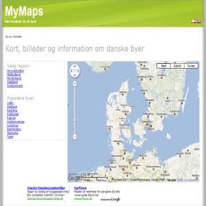 Kort og info om danske kommuner og byer