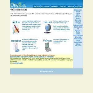 Onex.dk - infomagasin
