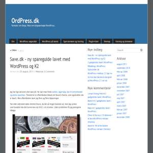 WordPress -værktøjskassen OrdPress.dk