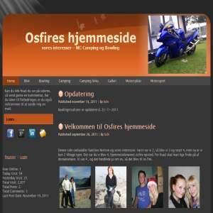 Osfires hjemmeside