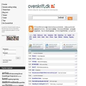 Overskrift.dk | Danmarks weblog & RSS feed portal