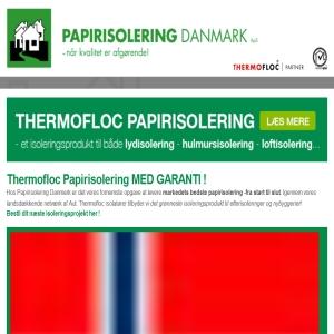 Papirisolering Danmark - Isolering med papirgranulat
