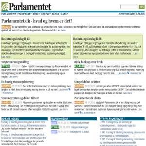 Parlamentet.dk