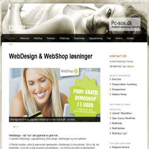 Pc-sos - Webshop, webdesign & flashdesign