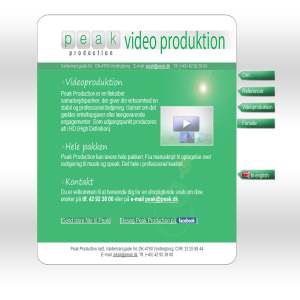 Professionel Videoredigering - Peak Production