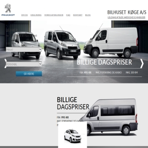 Peugeot Køge - Udlejning