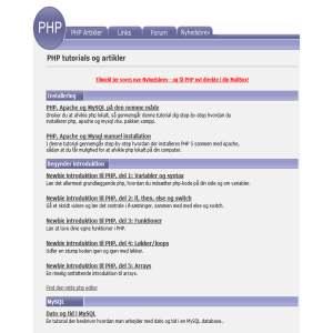 PHP Tutorials & Artikler