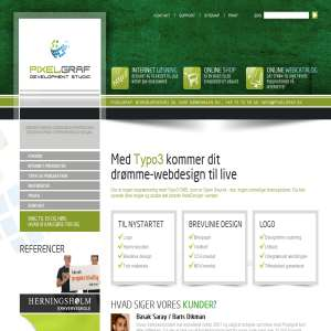 WebDesign og Typo3 CMS internetløsning - Pixelgraf Development Studio