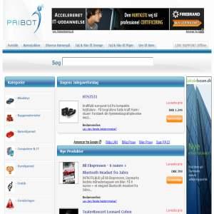 Pribot.dk - Shopping portal med live support