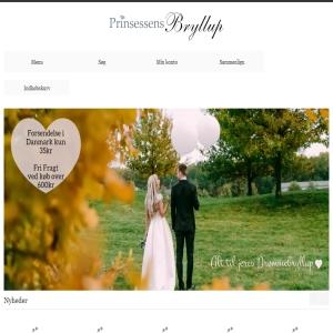 Prinsessens Bryllup - Bryllupstilbehør, Kagepynt, Barnedåb