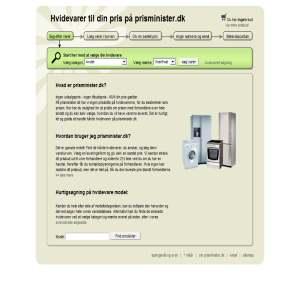 Prisminister.dk - hvidevarer til din pris