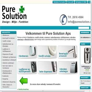 Pure Solution - online shop B2B salg