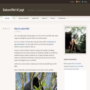 Salonriffel til jagt i Danmark