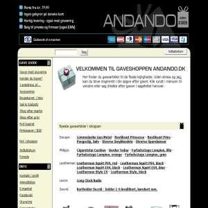 Andando.dk - Din gavebutik på nettet