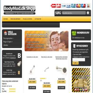 BodyMod.dk Shop - Piercingsmykke og plugs