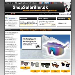 ShopSolbriller.dk - Retro, Vintage og Specielle Solbriller