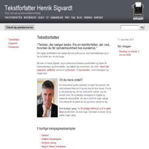Tekstforfatter Henrik Sigvardt