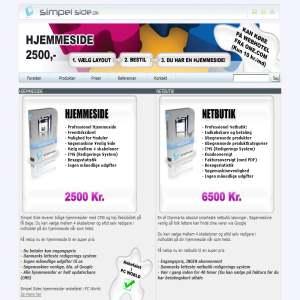 Simpel Side - Hjemmesider