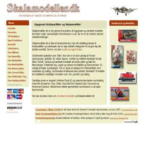 Byggesæt Hobbyartikler og Skalamodeller