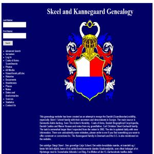 Skeel and Kannegaard Genealogy
