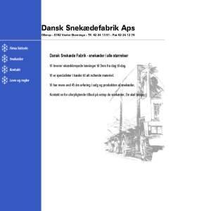 Dansk Snekæde Fabrik Aps.