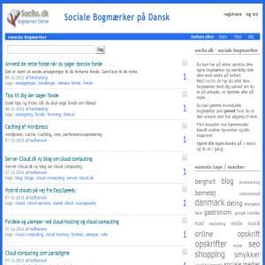 Social Bookmarks - Del dine bogmærker - SocBo.dk