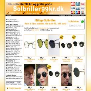 Billige solbriller | Solbriller99kr.dk