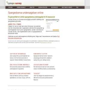 Få spørgeskema-undersøgelser fra Cynope