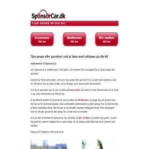 SponsorCar - Tjen penge på din bil