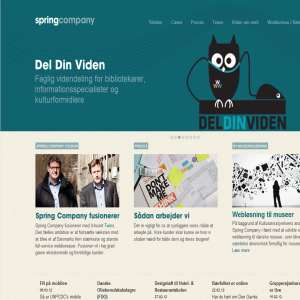Spring Company - ny hjemmeside i cms