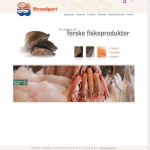 Fiskeeksport af ferske fiskeprodukter fra havnen i Strandby