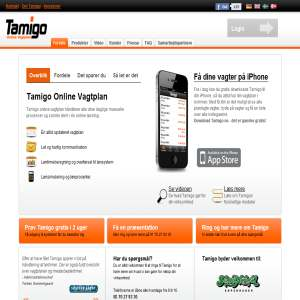 Tamigo - online vagtplan