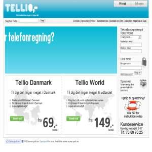 Billig telefoni hos tellio.dk
